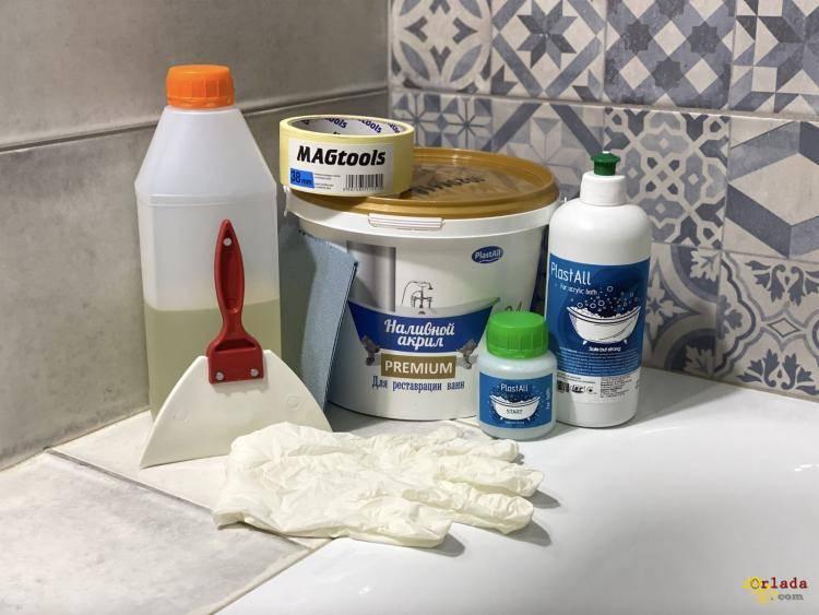 Акрил для реставрации ванн ванной Plastall - фото