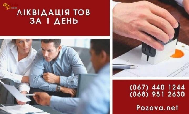 Ліквідація юридичної особи за 1 день Київ. - фото