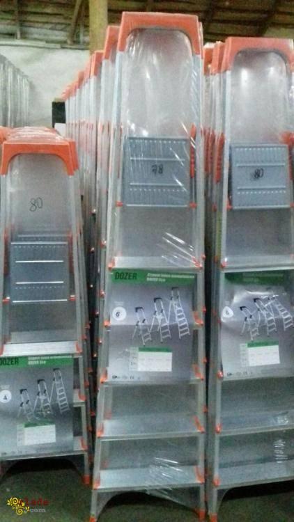 Лестница-стремянка алюминиевая Dozer (Турция) на 4, 5, 6 и 7 ступеней - фото