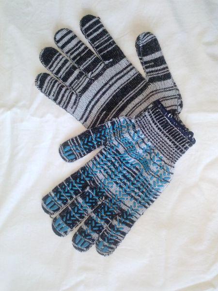Перчатки ПВХ с точкой - фото