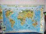 Настінні карти Світу,України, Європи, Дитячі, Політичні - фото 0