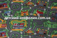 Ковролин с дорогами City Life. Покрытие детское на пол - фото 0
