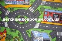 Ковролин с дорогами City Life. Покрытие детское на пол - фото 1