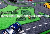 Ковролин с дорогами City Life. Покрытие детское на пол - фото 2