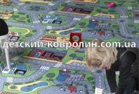 Ковролин с дорогами City Life. Покрытие детское на пол - фото 3