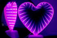 """Светильник Сердце """"Вечная любовь"""" бездна белый с розовым светом светодиодный зеркальный - фото 2"""