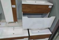 Подвесная тумба с умывальником 70 см. Комплект подвесной мебели - Колибри - фото 6