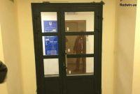 Алюминиевые двери. Двери входной группы с замком - фото 0
