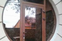 Алюминиевые двери. Двери входной группы с замком - фото 1